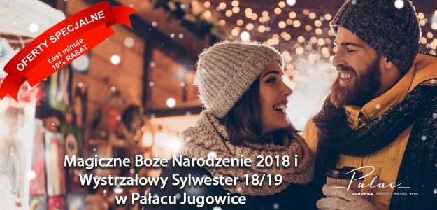 Boże Narodzenie w Pałacu Jugowice od 899 zł/osoba/pobyt.