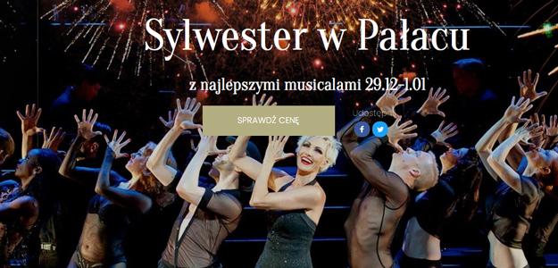 Sylwester w Pałacu z najlepszymi musicalami 29.12-1.01